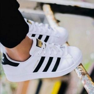 Best 25 Deals for Adidas White Shoes With Black Stripes | Poshmark